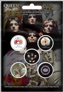 Queen Early Albums 5 Pin Badges in Pack (rz)